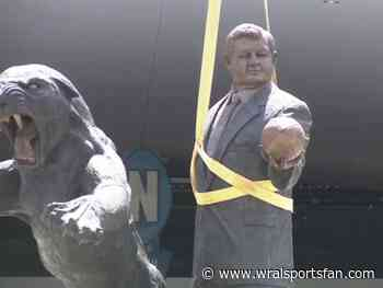 Watch: Jerry Richardson statue removal at Bank of America Stadium