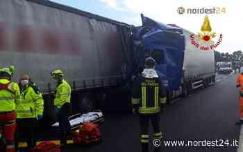 Incidente in A4 tra San Stino e Portogruaro: tamponamento tra 3 Tir, un ferito - Nordest24.it