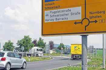 Kreisverkehr an der B 8 bei Iphofen teilweise gesperrt - inFranken.de
