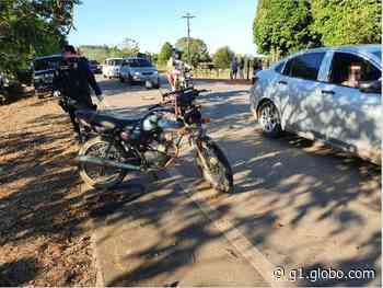 Motociclista morre após colisão com carro na RO-464 em Jaru, RO - G1
