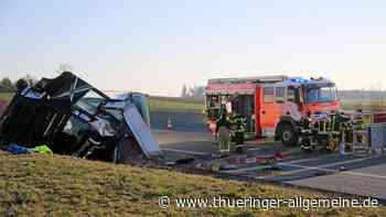 Schwerer Lkw-Unfall auf A9 bei Schleiz: Stundenlange Sperrung - Thüringer Allgemeine