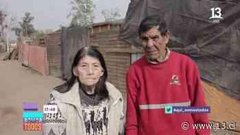 Esta es la impactante historia de abuelitos en Peñaflor que viven en un campamento - 13.cl