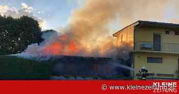 Ebersdorf: Gebäude neben Naturfreibad wurde ein Raub der Flammen - Kleine Zeitung