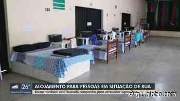Brotas monta alojamento para acolher pessoas em situação de rua durante a pandemia - G1
