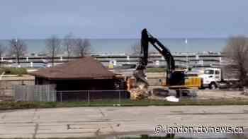 Iconic beachfront 'train station' demolished in Port Elgin, Ont. - CTV News London