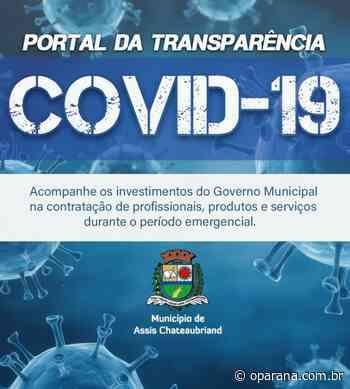 Assis Chateaubriand lança Portal da Transparência covid-19 - O Paraná
