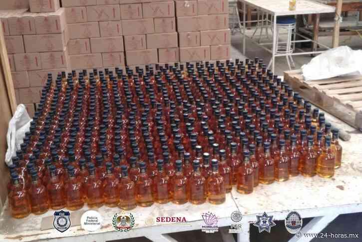Fiscalía Morelos desarticula fábrica clandestina de bebidas adulteradas en Puente de Ixtla, Morelos - 24 HORAS