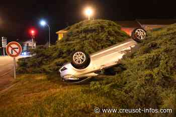 TORCY : Alcoolisé, il grille un feu rouge, percute une voiture et termine sur le toit au Creusot - Creusot-infos.com