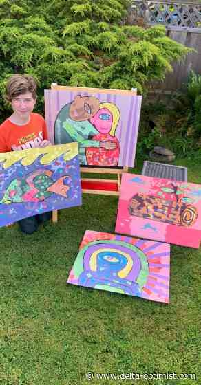 Ladner mom and son ensure artwork doesn't stay unfinished - Delta-Optimist
