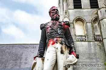Beklad standbeeld Leopold II in Ekeren weggehaald - De Standaard