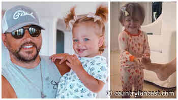 Jason Aldean's Daughter Tortures Him with Tickles (Video) - Country Fancast