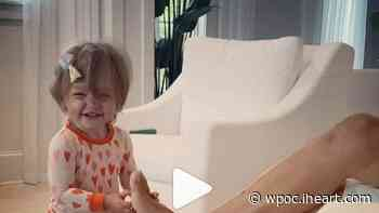 Little Navy Aldean Is Obsessed With Tickling Dad Jason! (WATCH) | 93.1 WPOC | The Laurie DeYoung Show - iHeartRadio