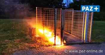Vechelde - Müllbehälter brennen an der Realschule - Peiner Allgemeine Zeitung - PAZ-online.de