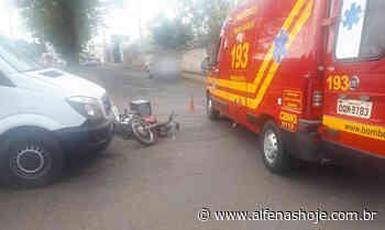 Acidente no Jardim São Carlos deixa motociclista ferido - Alfenas Hoje