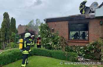FF Goch: Wohnhaus-Anbau komplett ausgebrannt (mit Bildmaterial) - Presseportal.de