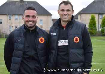 Clyde old boys David Gormley and Sean Higgins enjoying management at Rossvale - Cumbernauld News