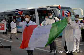 Medical brigade that fought the pandemic in Lombardy arrives in Cuba - OnCubaNews