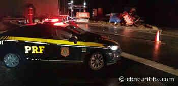 Acidente bloqueia BR-116 em Campina Grande do Sul - CBN Curitiba - CBN Curitiba - CBN Curitiba 90.1 FM
