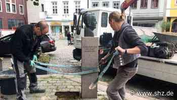 Ex-Bürgermeister ein Antisemit: Bronzekopf von Heinrich de Haan am Alten Rathaus in Rendsburg ist weg | shz.de - shz.de