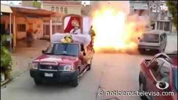 Video: Explosión por pirotecnia en Macuspana, Tabasco, deja un muerto - Noticieros Televisa