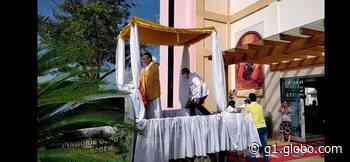 Fiéis realizam carreata durante celebração de Corpus Christi em Ariquemes, RO - G1