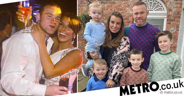Coleen Rooney celebrates 12 years of marriage to Wayne Rooney with loved up wedding picture