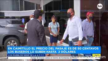 Noticias Residentes de Caimitillo piden unidades del Metrobús en la comunidad - TVN Panamá
