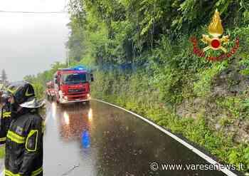 Frana sulla provinciale a Laveno Mombello, chiude il tratto verso Castelveccana - Varesenews