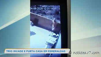Trio é flagrado invadindo casa em Esmeraldas, na Grande BH - R7