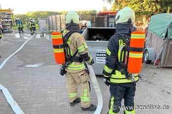 Weiterer Feuerwehreinsatz in Telgte: Containerbrand in Raestrup - Allgemeine Zeitung