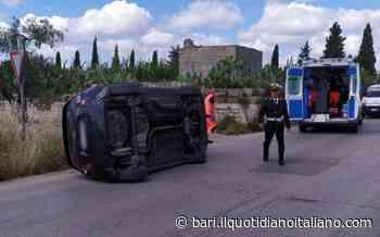 Incidente sull'Adelfia-Rutigliano, auto con 5 persone a bordo si ribalta sul fianco: donna e bimba in ospedale - Il Quotidiano Italiano - Bari