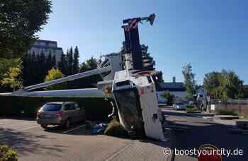 60 Tonnen schwerer Kran in Taunusstein umgekippt | BYC-Times Nachrichten - Boost your City