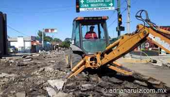 #Cuauhtemoc | Arranca Municipio varias obras de pavimentación en la ciudad - Adriana Ruiz