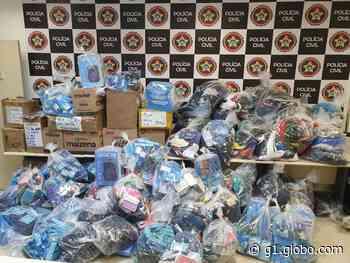 Polícia apreende 1,5 tonelada de produtos piratas em Rio das Pedras - G1