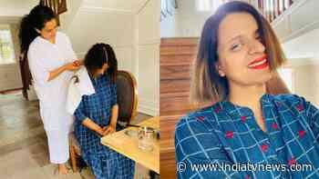 Kangana Ranaut turns hairstylist for sister Rangoli Chandel: My young-gun-murgan ever ready for anything - India TV News