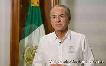 Gobernador de San Luis Potosi se somete a prueba de Covid-19 - El Sol de San Luis