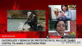 Cacerolazo en Cocachacra contra proyecto Tía María – Entrevista a Marilú Marroquín - El Búho.pe