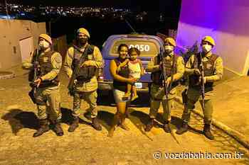 Brumado: Polícia Militar salva vida de criança de 2 anos que estava engasgada no bairro Jardim de Aláh - Voz da Bahia