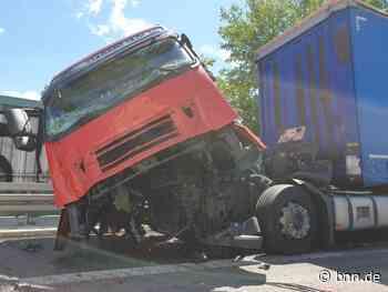 Unfall mit drei Lkw auf der A5 zwischen Karlsruhe und Ettlingen - BNN - Badische Neueste Nachrichten