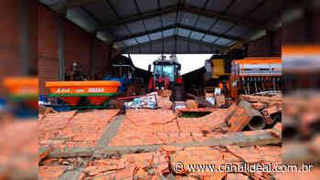 Vento forte causa danos no interior de Faxinal dos Guedes - Canal Ideal