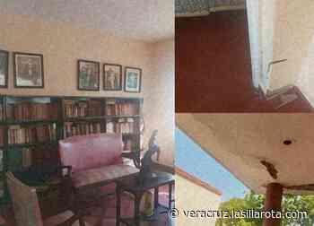 Con grietas y paredes corroídas, casa del expresidente Adolfo Ruiz Cortines - lasillarota.com