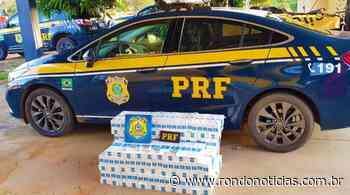 PRF intercepta contrabando de cigarros na Vila Nova Mutum - Rondo Notícias