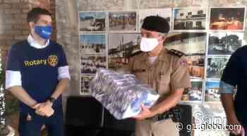 Polícia Militar recebe doação de máscaras em Pouso Alegre, MG - G1