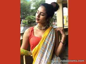 Wink Girl Priya Varirer is back to win hearts by posting her image in traditional sari avatar - indiablooms