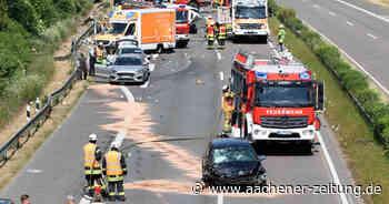 A44, Abfahrt Alsdorf-Hoengen: Autounfall mit schwer verletzter Person - Aachener Zeitung