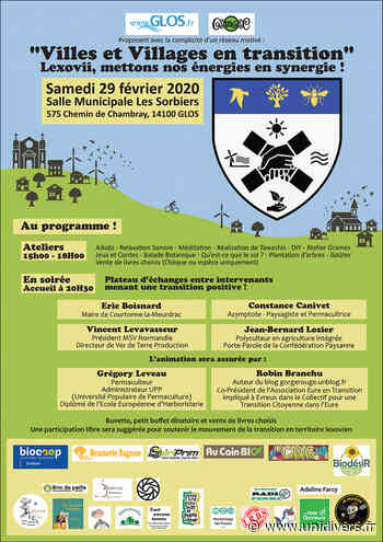 Villes et Villages en transition Salle Municipale Les Sorbiers 575 Chemin de Chambray 14100 Glos samedi 29 février 2020 - Unidivers