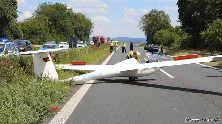 Miltenberg: Segelflugzeug muss auf Bundesstraße notlanden - t-online.de