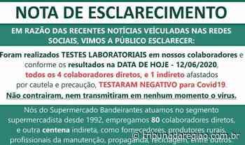 Supermercado Bandeirantes emite nota de esclarecimento e reafirma compromisso com segurança do cliente e colaboradores - Arial