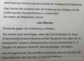 Anklageschrift erhalten - Rechtsanwalt Ferner Alsdorf Aachen - Anwaltskanzlei Ferner Alsdorf