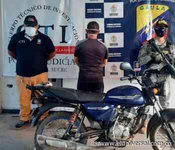 En San Benito Abad cae hombre por receptación y extorsión - El Universal - Colombia
